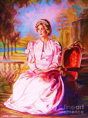 Lady Diana Our Princess Art Print by Carole Spandau