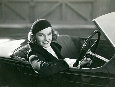 Lady Driver Art Print