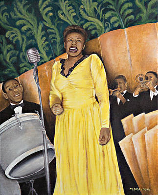 Recently Sold - Music Paintings - Lady Ella at the Savoy by Melanie Beaudoin