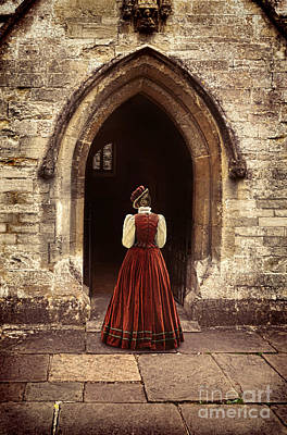 Photograph - Lady Entering An Old Church by Jill Battaglia