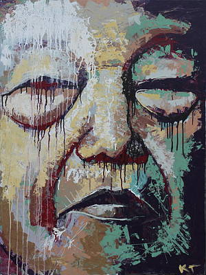 Painting - Lady Face by Kate Tesch