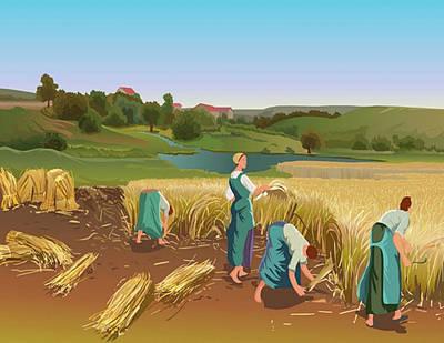 Digital Art - Lady Farmar by Prakash Leuva