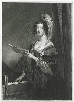 Mare Drawing - Lady For A Keyboard, Johannes De Mare by Johannes De Mare