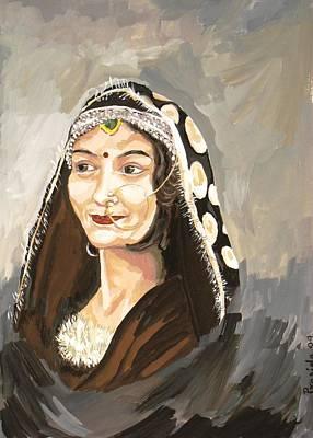 Himalaya Painting - Lady From The Hills by Prasida Yerra
