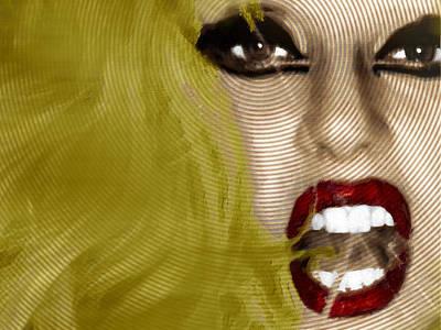 Lady Gaga Portraits Painting - Lady Gaga 2 by Tony Rubino