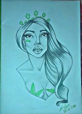 Teeth Drawing - Lady Gaga by Evelyn Cseh