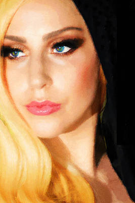 Painting - Lady Gaga Fashion 2 by Tony Rubino