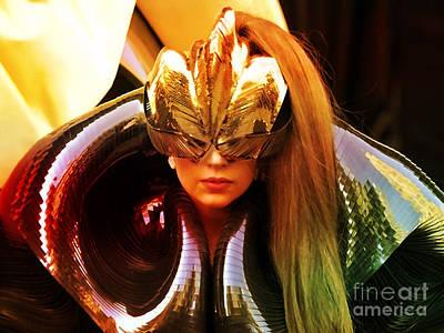 Gaga Mixed Media - Lady Gaga Painting by Marvin Blaine