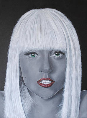 Lady Gaga Painting - Lady Gaga 'poker Face' by David Dunne