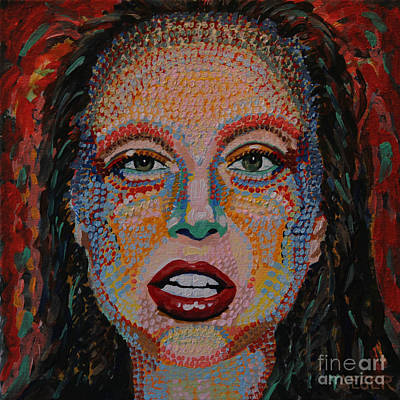Saturday Night Live Painting - Lady Gaga Portrait by Robert Yaeger