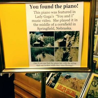 Piano Photograph - Lady Gaga'a Piano #gaga #piano by Jamey Domeier