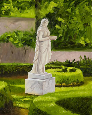 Lady Gandes Garden Original by Gary  Hernandez