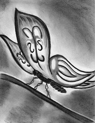 Lady Ghostwing Art Print by Angie Brown