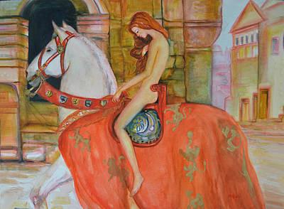 Taxation Painting - Lady Godiva - After John Collier by Joanna Maria Morales Miarrostami