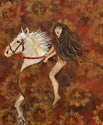 Lady Godiva Painting - Lady Godiva Rides For Love by The Art With A Heart By Charlotte Phillips