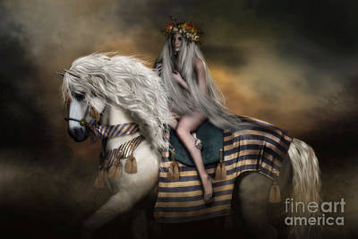 Digital Art - Lady Godiva by Shanina Conway
