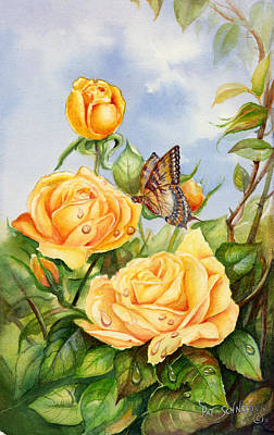 Lady Hillington Tea Rose Art Print by Patricia Schneider Mitchell