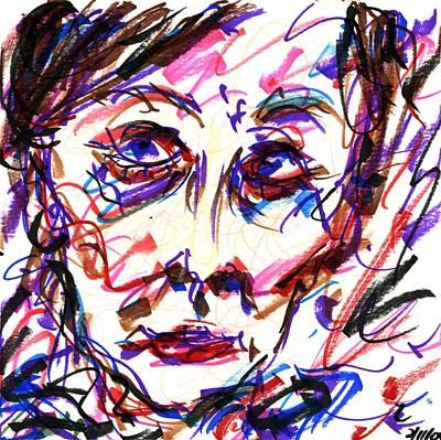 Drawing - Lady I by Rachel Scott