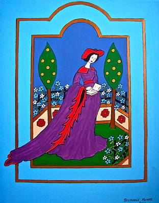 Painting - Lady In A Garden by Stephanie Moore