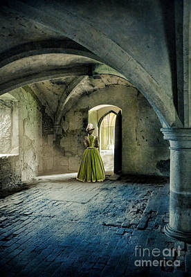 Photograph - Lady In Abbey Room by Jill Battaglia