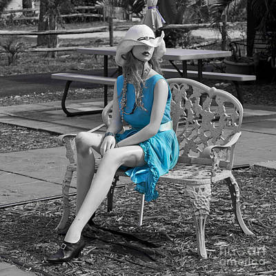 Tron Photograph - Lady In Blue 2 by Allan  Hughes