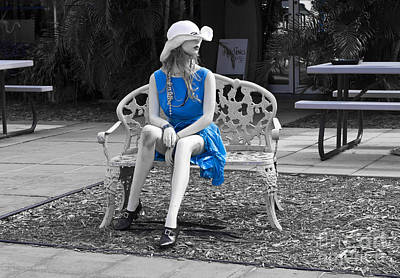 Tron Photograph - Lady In Blue 3 by Allan  Hughes