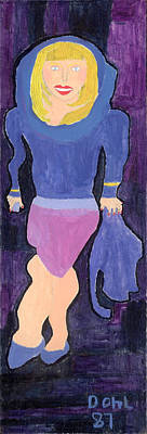 Painting - Lady In Blue by Don Larison