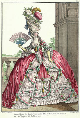 Lady In Formal Dress Art Print by British Library