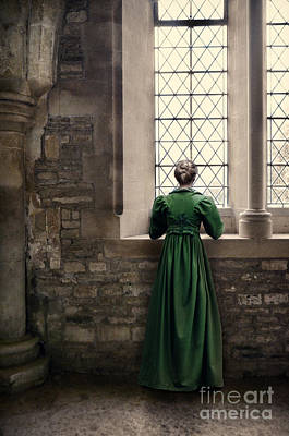 Photograph - Lady In Green By Window by Jill Battaglia