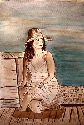 Painting - Lady In Lily. by Shlomo Zangilevitch