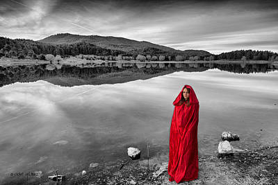 Photograph - Lady In Red-2 by Okan YILMAZ