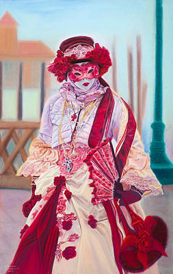 Mardi Gras Painting - Lady In Red by Dani Altieri Marinucci