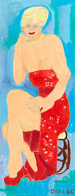 Painting - Lady In Red by Don Larison