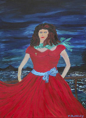 Painting - Lady In Red by Martin Blakeley
