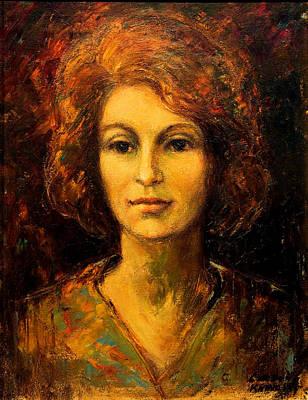 Lady In Red Art Print by    Michaelalonzo   Kominsky