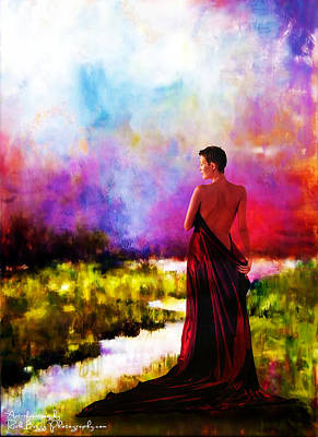 Lady In Red Art Print by Rick Buggy