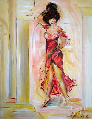 Painting - Lady In Red by Silvana Abel