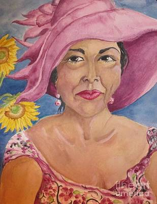 Painting - Lady In That Pink Hat by Lynn Maverick Denzer