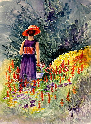 Painting - Lady In The Orange Hat by Marilyn Smith