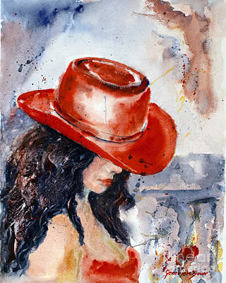 Painting - The Red Hat by Genevieve Brown