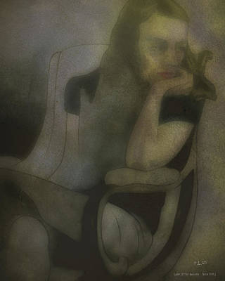 Drawing - Lady In The Rocker by Pedro L Gili