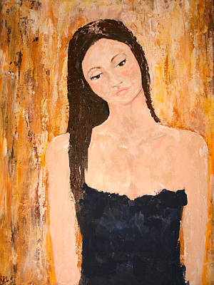 Oneself Painting - Lady In Waiting by Kathy Peltomaa Lewis