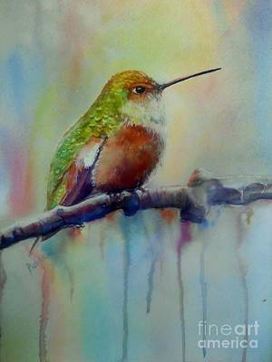 Hummingbird Painting - Lady  by Patricia Pushaw