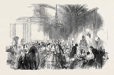 Lady John Russells Assembly On Wednesday Evening Art Print by English School