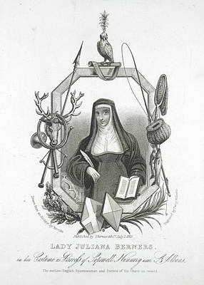 Clergy Photograph - Lady Juliana Berners by British Library