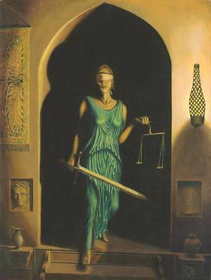 Lady Justice Awakens Original by Odin