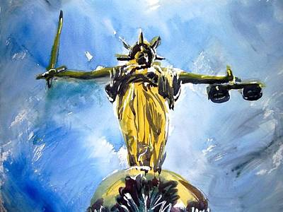 Justice Painting - Lady Justice by Eraclis Aristidou