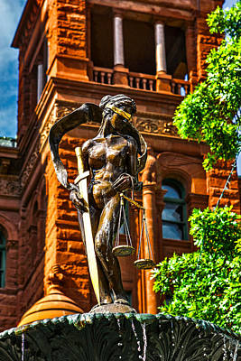 Lady Justice Fountain Art Print by Greg Sharpe