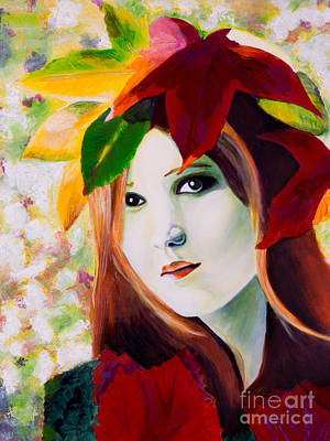 Lady Leaf Art Print by Denise Deiloh