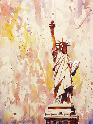 Justice Painting - Lady Liberty 1 by Ryan Fox